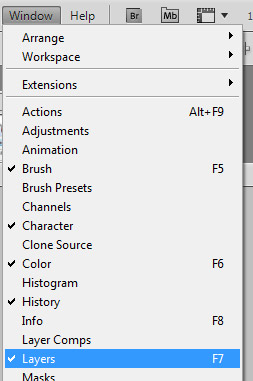 photoshop solid white background open layers palette