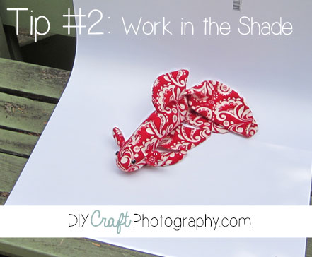 product photography lighting tips work in the shade
