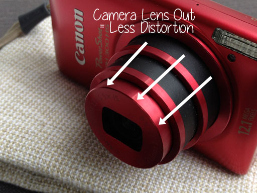 fix photo distortion with camera zoom