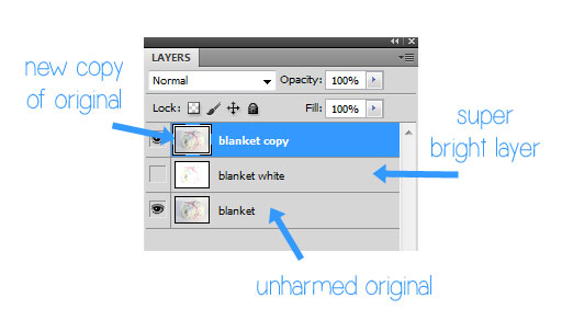 photoshop solid white background duplicate layer