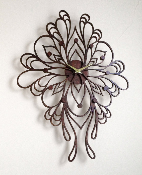 sophia_clock_laser_cut_wood_clock